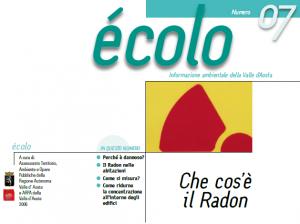 Documento divulgativo di informazione ambientale della Regione Valle d'Aosta.