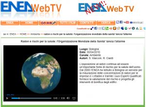 Filmato di ENEA per la WEB TV.