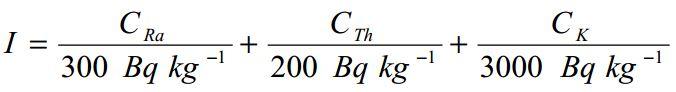 Formula dell'Indice di Concentrazione di Attività I secondo RP 112