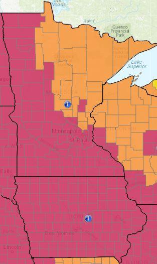 Minnesota e Yowa