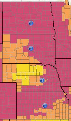 North Dakota, South Dakota, Nebraska e Kansas