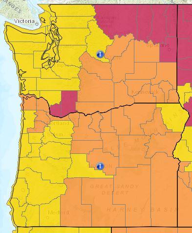 Washington e Oregon
