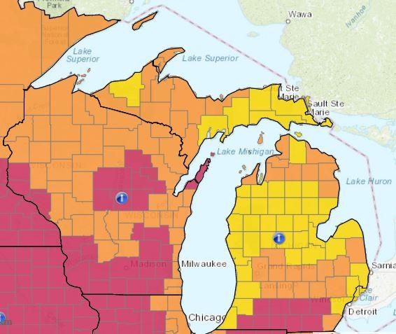 Wisconsin e Michigan