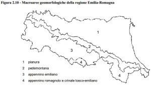 Mappe radon di Emilia Romagna - Mappa regionale delle macroaree geomorfologiche