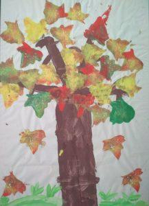 Un albero - Immagine colorata simbolica della vita sulla terra