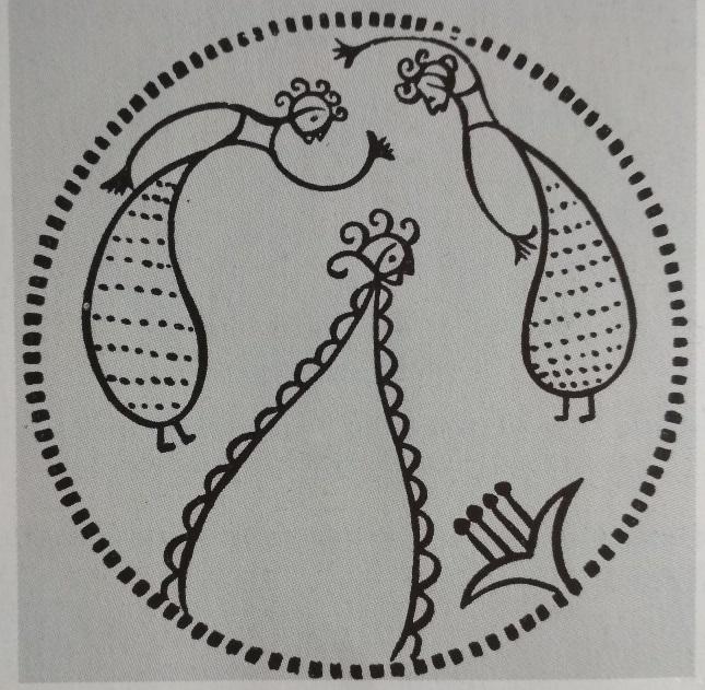FAQ sul radon - Immagine simbolica di fanciulle che danzano di fronte ad un fiore