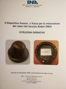 Documento ENEA con istruzioni operative di dispositivi passivi a tracce per misura radon